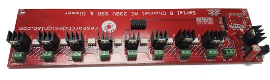 Picture of Serial 8 Channel AC 230V SSR and Dimmer