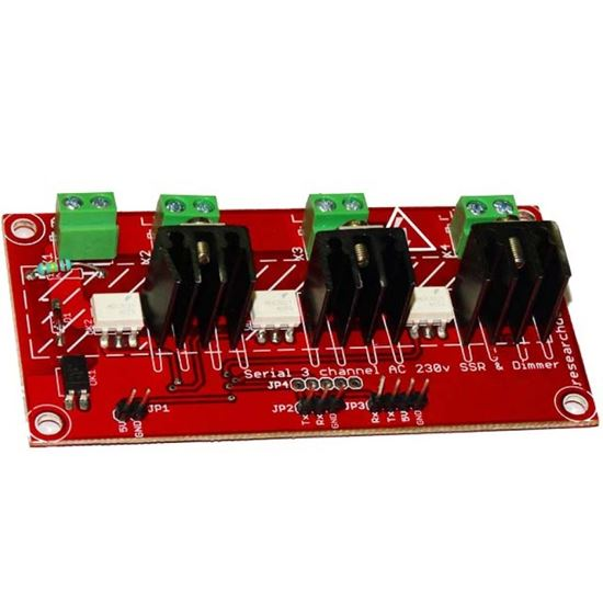 Picture of Serial 3 Channel AC SSR Dimmer For Arduino and Raspberry PI DIMMER on 230V 50hz (110V-60HZ On/OFF)