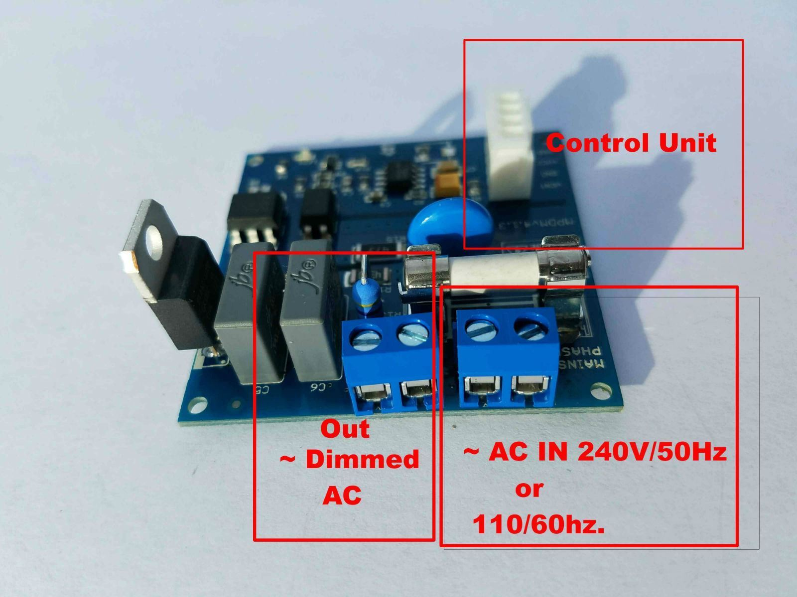 Universal Ac Mains Dimmer 110v 220v Compatible Arduino Circuit Picture Of 4a Mpdmv41 Raspberry Pi And