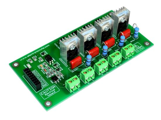 Picture of 4 Channel Ac Programmable Light SSR Dimmer Module Controller Board Arduino Raspberry MIC Compatible 50/60hz