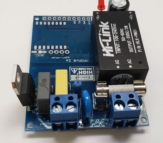 Picture of Arduino Raspberry Pi AC Mains Dimmer Development Board with Integrated Phase Detection and ZCD (Zero Crossing Detection)