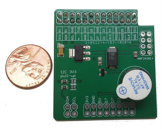Picture of New Raspberry Pi to NRF24l01+ Shield