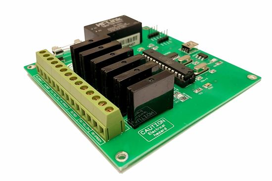 Picture of 6 CH Traffic Light Controller Board, Arduino Based programmable Board 6 Channel RED Green Yellow and Others