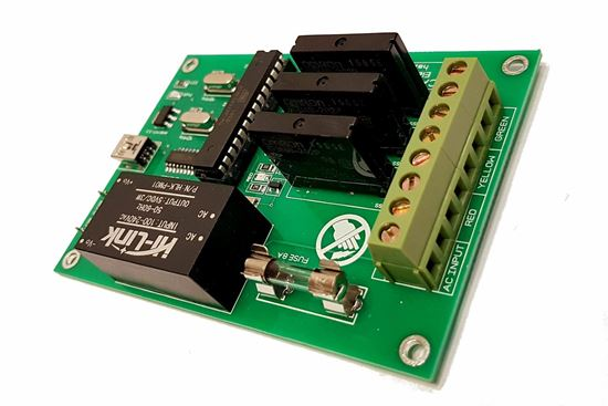 Picture of 3 CH Traffic Light Controller Board, Arduino Based programmable Board 6 Channel RED Green Yellow