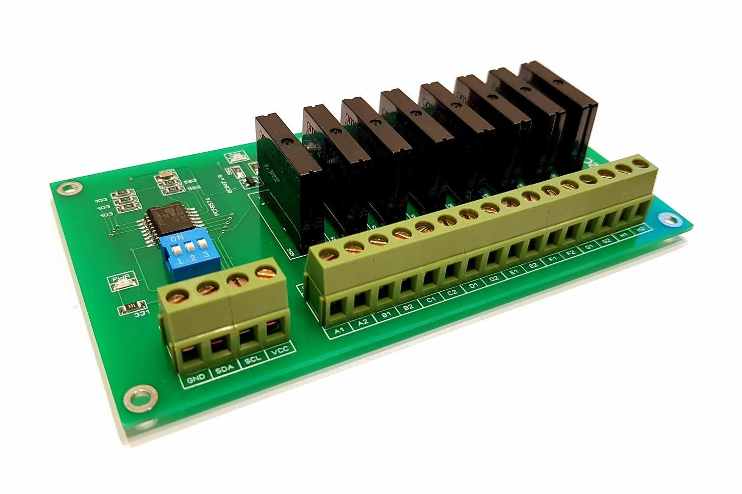 8 Channel I2c Solid State Relay Module For Arduino Raspberry Pi And Picture Of Ssr All