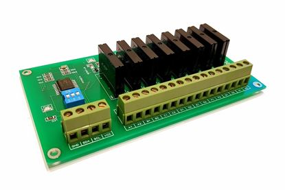 Picture of 8 Channel I2C Solid State Relay Module SSR For Arduino Raspberry PI and All Mic SSR