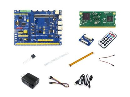Picture of Raspberry Pi Compute Module 3 Development Kit Type A Include CM3 IO Board DS18B20 and IR Remote Controller the Pi in a flexible form factor with 4GB eMMC Flash