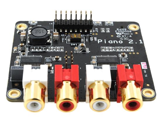 Picture of Allo PIANO 2.1 DAC (Subwoofer Out) using 2 DAC Ic's PCM5142 with integrated DSP